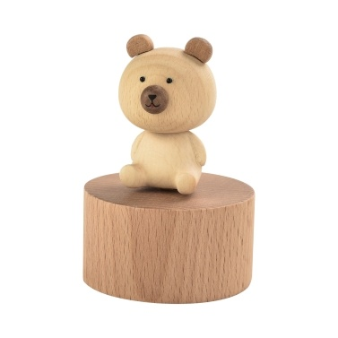 ammoon Wooden Music Box with Cute Figurine Home Decor Crafts Musical Gift for Birthday Christmas Valentine