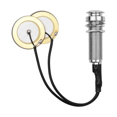 Acoustic Guitar Pickup Adhesive Instrument Pickup Mini Transducer 1/4 Inch Jack Violin Mandolin Ukulele
