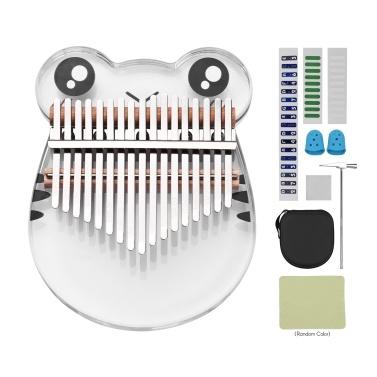 Muslady 17 Keys Crystal Kalimba Thumb Piano Cute Acrylic Kalimba