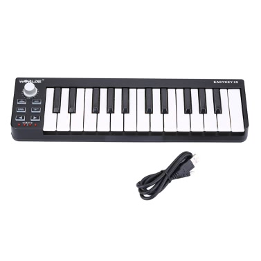 Worlde Easykey.25 Portable Keyboard Mini 25-Key USB MIDI Controller