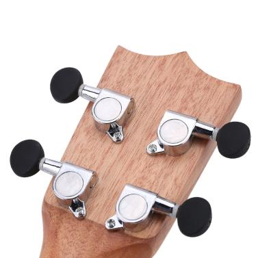 "ammoon 24"" Fichte Sapele Ukulele Rosewood Griffbrett 4 Strings Musical Instrument Silvester Tag Geschenk vorhanden"