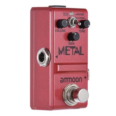 ammoon Nano Series Gitarren-Effekt-Pedal Heavy Metal Distortion True Bypass Gehäuse aus Aluminiumlegierung