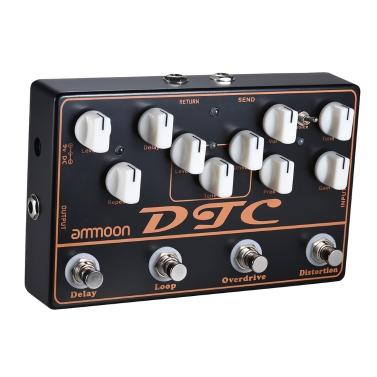 ammoon DTC 4-in-1 E-Gitarre Effektpedal