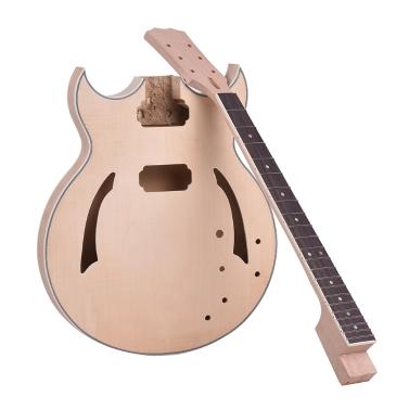 € 8 de réduction pour ammoon Kit de Guitare Electrique Bricolage Unfinished seulement € 140.17
