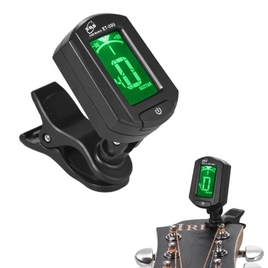 eno ET-33U Portable Clip-On Tuner LCD Display Guitar Chromatic Ukulele