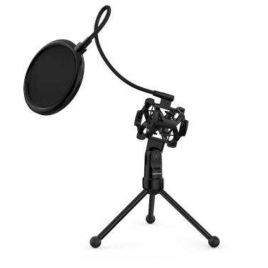 ammoon Mini Desktop Microphone Tripod Stand