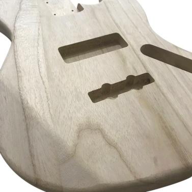 Polished Wood Type Electric Guitar Barrel DIY Electric Maple Guitar Barrel Body For JB Style Bass Guitar