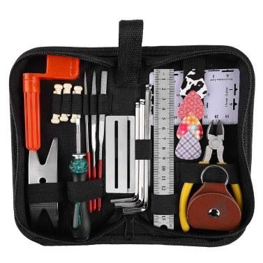 Gitarrenreparatur-Werkzeugsatz Wartung Reinigungswerkzeug-Kit String Organizer Aktion Lineal Spur Messwerkzeug