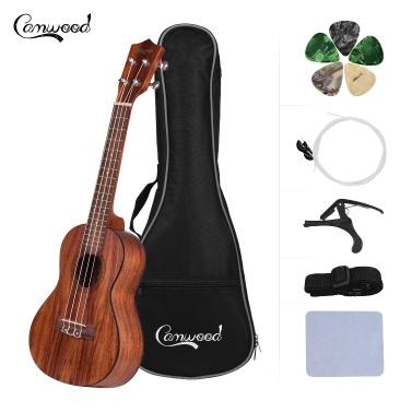 Camwood 23 Inch Teakwood Material Acoustic Concert Ukulele Ukelele