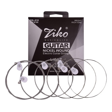 ZIKO DN-009 Extra Light Guitar Strings for Electric Guitars Hexagonal Core Namo Coating Nickel Winding 6pcs Strings Set