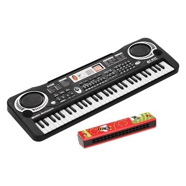 Teclado de piano digital eletrônico de 61 teclas