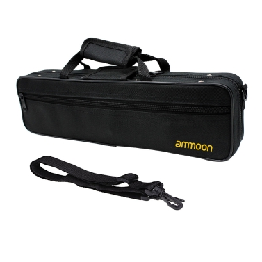 ammoon Flute Case Gig Bag Backpack Box Water-resistant  600D Foam Cotton Padding with Adjustable Single Shoulder Strap