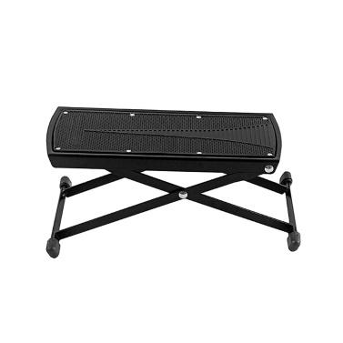 Guitar Pedal Footstool Foot Rest Adjustable Folding Portable Black