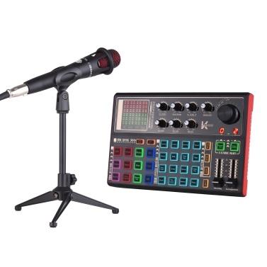 Muslady SK300 Live Sound Card External Voice Changer Audio Mixer