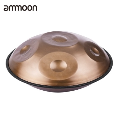 ammoon Portable Handpan Hand Pan Hand Drum C-Key 6 Notes(A3 C4 D4 E4 F4 G4) Percussion Instrument with Carry Bag for Beginners