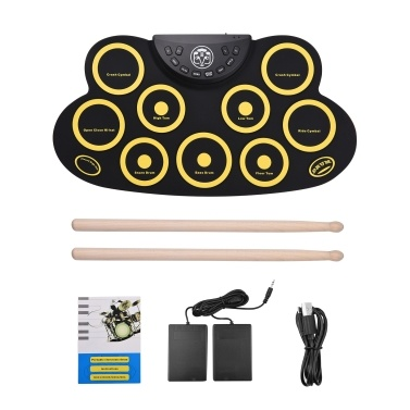 Portable Roll-up Electronic Drum Pad Silicon Digital Drum
