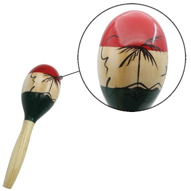 Pair of Wooden Large Maracas Rumba Shakers Rattles Sand Hammer Percussion Instrument Musical Toy for Kid Children Party Games