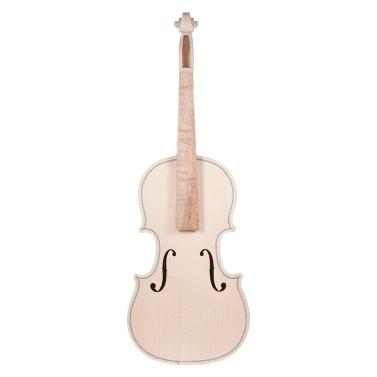 DIY 4/4 Full Size Natural Solid Wood Violin Fiddle Kit Spruce Top Maple Back Neck Fingerboard