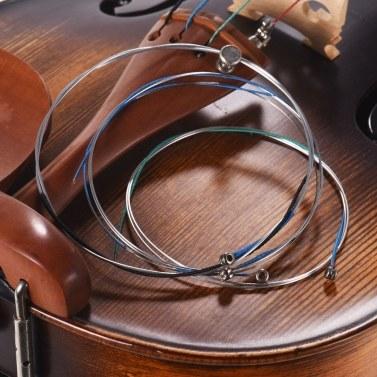 Alice A704 Universal Full Set (E-A-D-G) Violin Fiddle Strings Steel Core Al-Mg/ Ni-Fe Alloy Winding