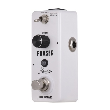 Rowin Pure Analog Phaser Guitar Effect Pedal 2 Working Modes Vintage/Modern Aluminum Alloy Shell True Bypass