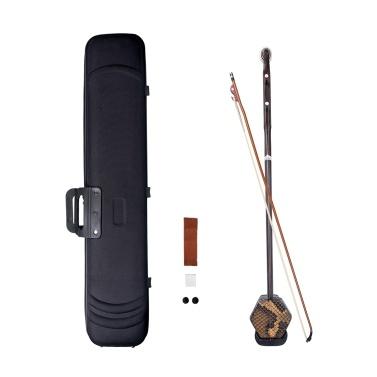 Hölzernes Erhu Chinesisches 2-saitiges Geigen-Violinen-Huqin-Saiteninstrument
