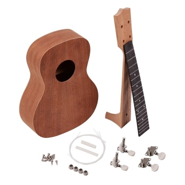 ammoon 21 Inch Unfinished DIY Ukulele Kit