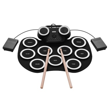 ammoon Portable Roll-up Electronic Drum Pad Silicon Digital Drum