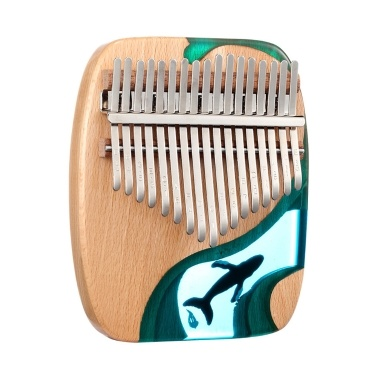 17 Keys Beech Wooden Kalimba Thumb Finger Piano Mini Kalimba Portable Musical Instrument