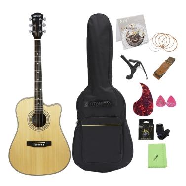 """Ammoon 41 """"Cutaway Acoustic Folk Gitarre"""