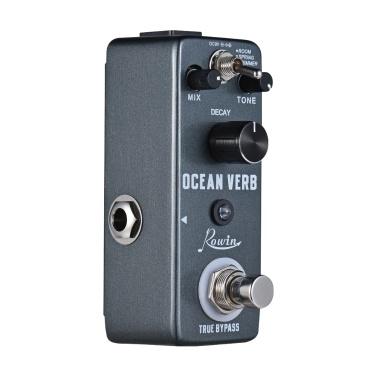 Rowin Ocean Verb Digital Reverb Gitarre Effektpedal 3 Modi ROOM / SPRING / SHIMMER Aluminiumlegierung Shell True Bypass