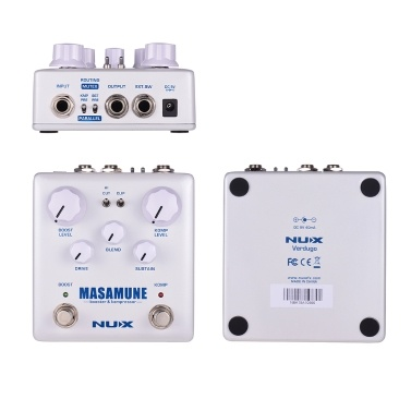 NUX MASAMUNE Booster & Kompressor Analog Boost Compressor Guitar Effect Pedal Dual Footswitch True Bypass