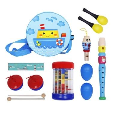 Conjunto de brinquedos musicais, instrumento de percussão, banda, kit de ritmo