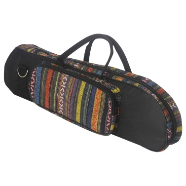 Beautiful National Style Trumpet Bag Carry Case Zippered Closure with Outside Pocket Top Handles