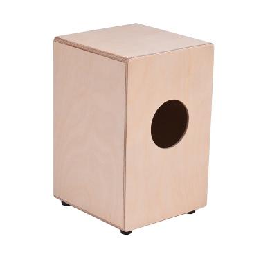 ammoon Holz Cajon Box Drum Handtrommel Persussion Instrument Birkenholz mit justierbarem Saiten Tragetasche für Kinder Kinder