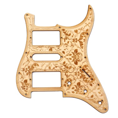 HSH Wooden Guitar Pickguard Maple Wood Decorative Flower Pattern Fender ST Electric Guitars