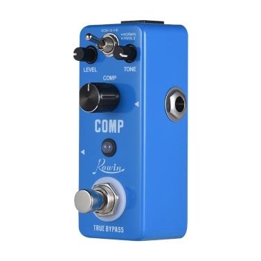 Rowin COMP Kompressor Compress Gitarre Effektpedal Aluminiumlegierung Shell True Bypass