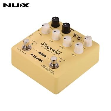 NUX Stageman Floor Acoustic Preamp + DI Effektpedal mit Chorus Reverb Freeze 60s Loop für Akustikgitarre Violine Mandoline Banjo