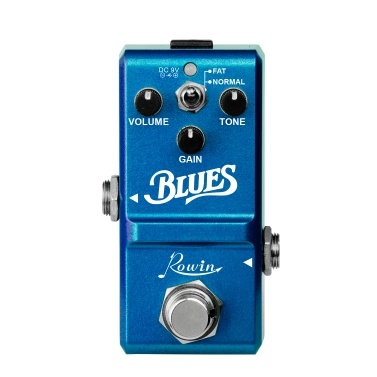 Rowin LN-321 Blues-Pedal Frequenzbereich mit breitem Frequenzbereich Blues Style Overdrive-Effektpedal für Gitarre