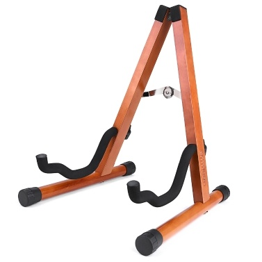 ammoon Portable Solid Wood Guitar Stand Holder Birch Wood Detachable String Instrument Bracket for Electric Acoustic Guitars Bass