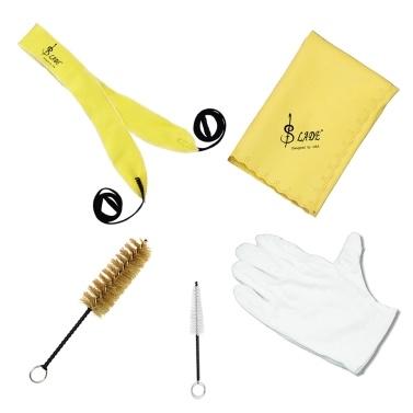 Trompetenreinigungswerkzeug-Kit mit durchgehenden Stoffreinigungs-Stoffbürstenhandschuhen