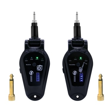 A-10 Wireless Guitar Pickup System Electric Guitars Transmitter Receiver Set Built-in Rechargeable Battery Guitar Wireless System
