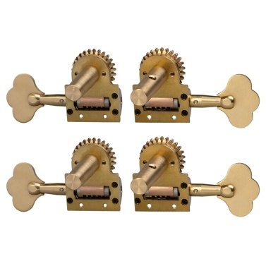4pcs German Style Double Bass Single Tuning Pegs Tuner Machine Heads 2 Left 2 Right for 4/4 3/4 Double Bass