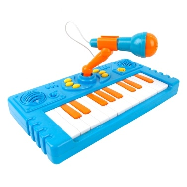 21 Keys Kids Cartoon Electronic Piano Toy Interactive Toddler Piano Keyboard Baby Piano Musical Toy with Microphone