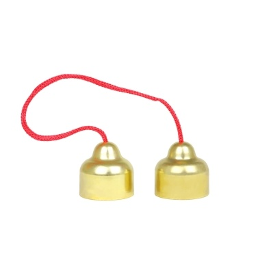 Muslady Copper Hand Bells Musical Bells Orff Percussion Instrument Toy Bell Classroom Musical Instrument