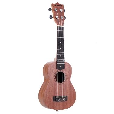 "ammoon 21"" akustische Ukulele Sapele 15 Fret 4 Strings Stringed Musikinstrument"