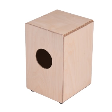 ammoon Children Kids Wooden Cajon Box Drum Hand Drum Persussion Instrument Birch Wood with Adjustable Strings Carrying Bag