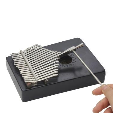 débutant Portable 17 clés en acajou et métal Kalimba Mbira Pocket Thumb Piano seulement € 30.09