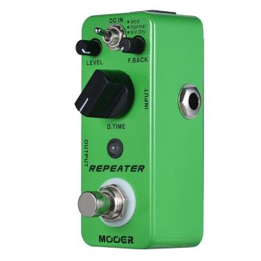 MOOER REPEATER Digital Delay Gitarre Effektpedal 3 Modi True Bypass Vollmetallgehäuse
