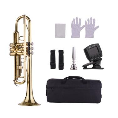 Muslady Standard Bb Trompete aus Messing