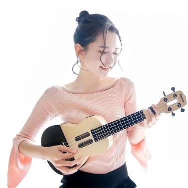Xiaomi Youpin Populele U1 Inteligente Ukulele 4 Cordas 23in Elétrica Ukulele Lâmpada LED Grânulos Pequena Guitarra